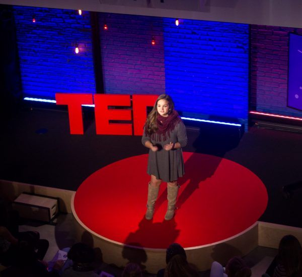 Olivia Chapman speaks at TED-Ed Weekend - December 3-4, 2016, TED HQ, New York, NY. Photo: Esiwahomi Ozemebhoya/TED